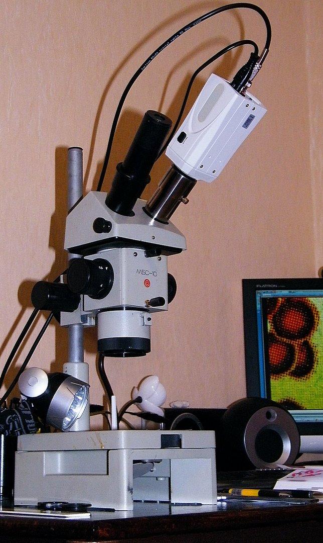 модернизация и переоборудование микроскопа